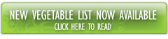 The Latest Vegetable List is now online - click here to read